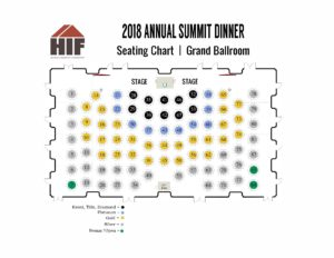 2018 Annual Summit Dinner Seating Chart