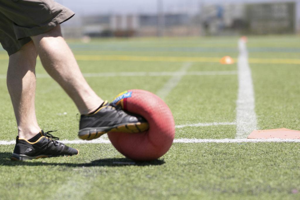 Kickball Foot Meets Ball